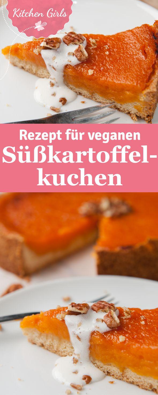 Rezept für veganen Süßkartoffelkuchen