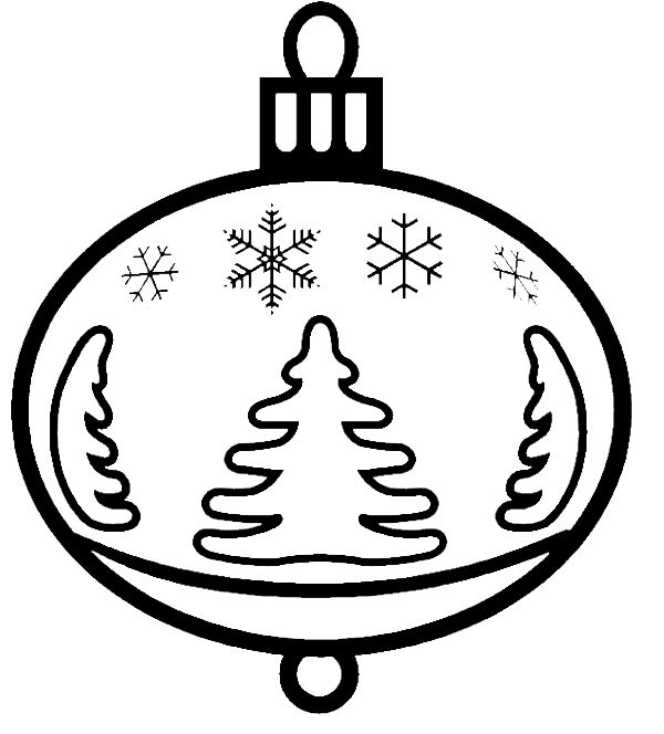 Christmas Ornament That Garnished With Tree Pictures Coloring Page