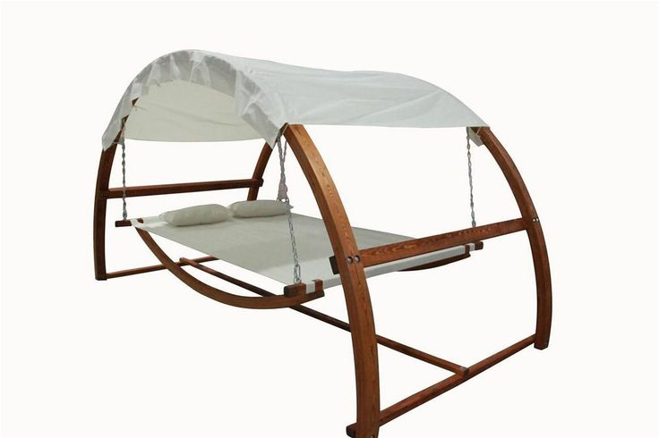 Twin Hammock with Waterproof Canopy Roof & Hardwood Larch Solid Frame RRP $899