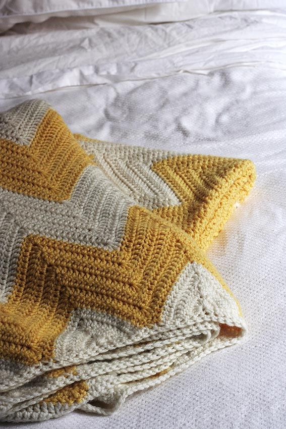 Look What I Made: Chevron Crochet Blanket