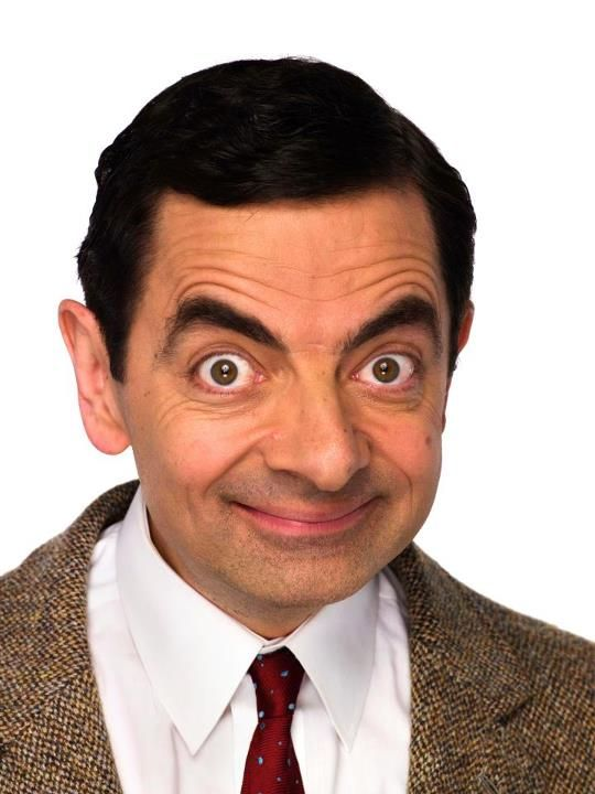 I only see his face and I start laughing... Rowan Atkinson as Mr. Bean