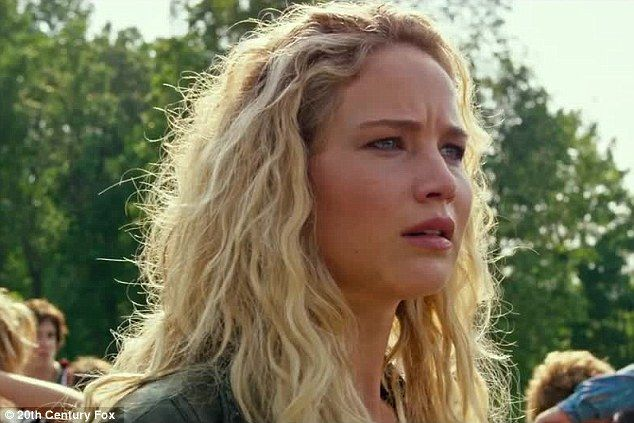 She's back: Jennifer Lawrence is shown back in her role as Mystique in theX-Men: Apocalypse trailer released on Friday