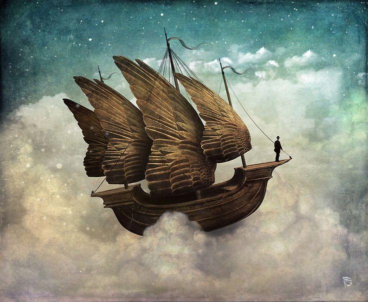 The Flying Merchant by Christian Schloe http://www.redbubble.com/people/christianschloe