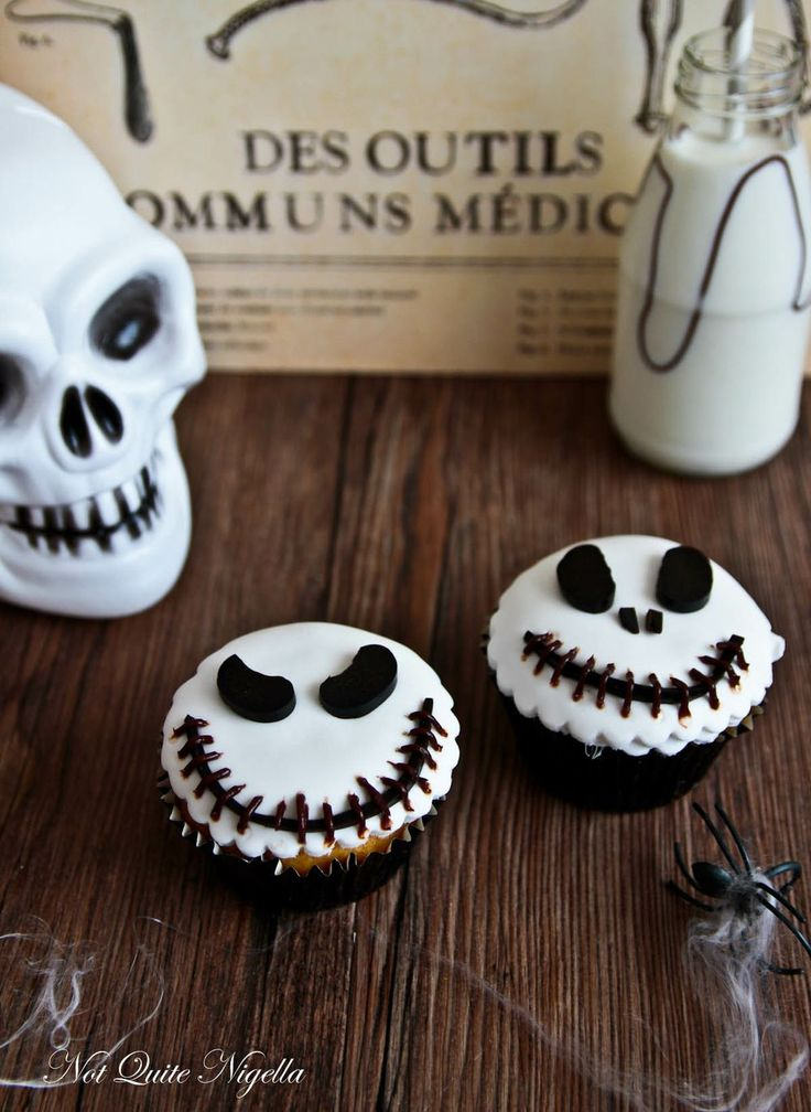 Jack skellington cupcakes for friday the 13th recipe for How to make halloween cupcakes from scratch