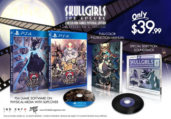 Last chance to preorder the limited Edition Physical Release of Skullgirls 2nd Encore for PS4 and Vita!