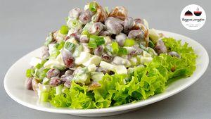 Фото к рецепту: Салат МИНУТКА - просто улёт! Обалденно Вкусно и Просто!