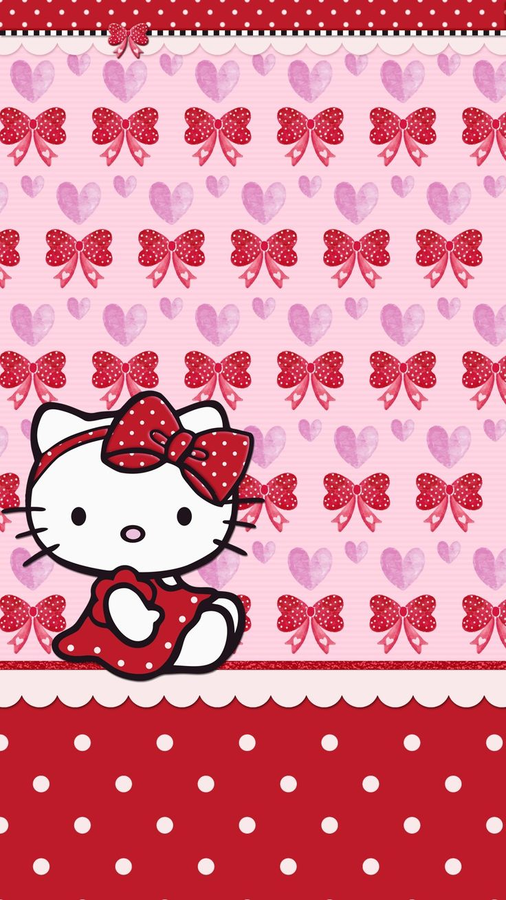 #valentine's_day #heart #love #wallpaper #iphone #theme #android #hello_kitty