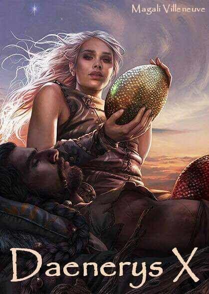 AGoT Daenerys X banner - Daenerys and Khal Drogo by Magali Villeneuve