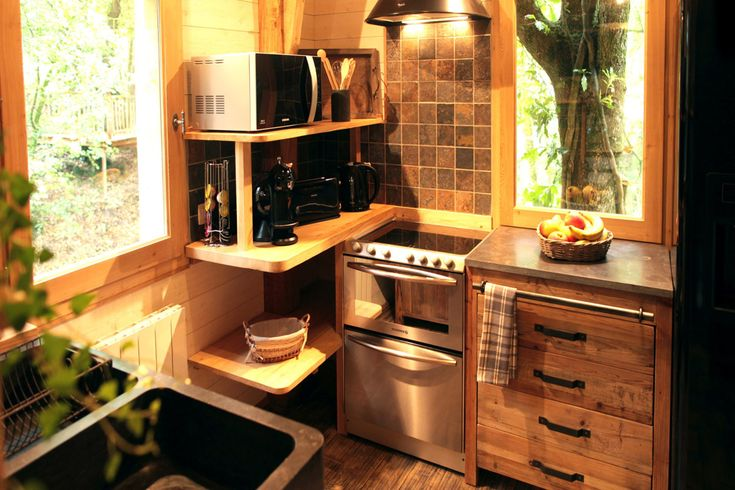 Tiny Kitchen Inside A Beautiful Treehouse Tiny