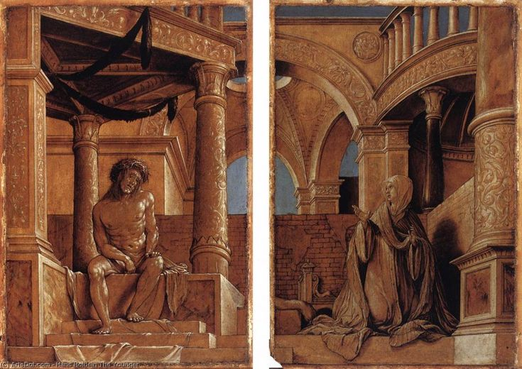 Hans Holbein the Younger : Diptych with Christ and the Mater Dolorosa (Kunstmuseum Basel  (Switzerland - Basel)) 1497/1498-1543 ハンス・ホルバイン