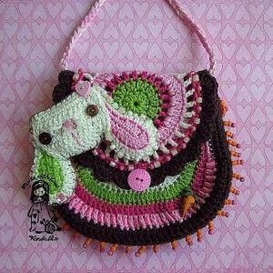 kız çocuklar için şirin tığ işi çapraz çanta
