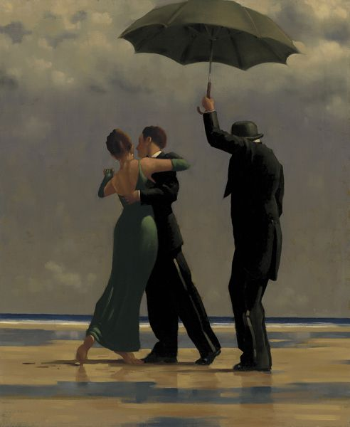 Jack Vettriano Dancer in Emerald Oil on canvas 24 x 20 inches Signed, Painted in 1992, via Gareth Perry