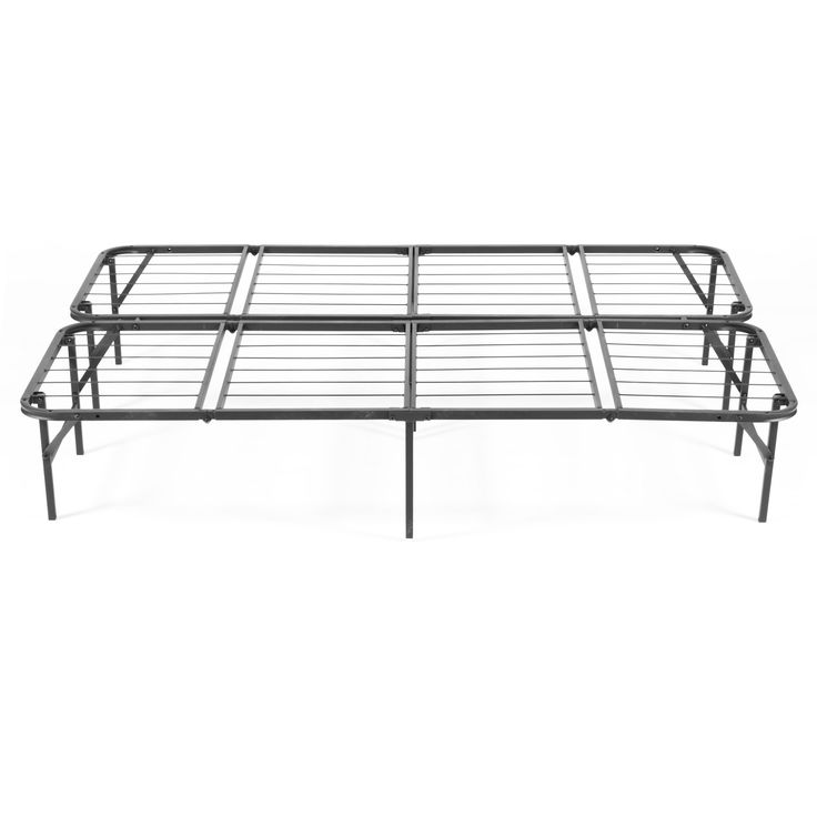 Simple Base Quad-Fold Bed Frame (California King), Black