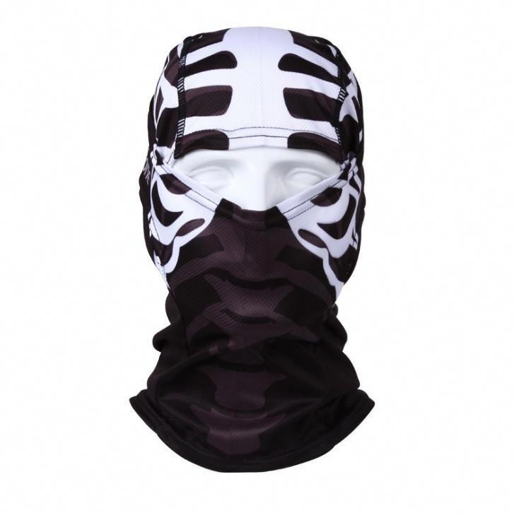 Shark Pattern Microfiber Neck Warmer Balaclavas Soft Fleece Headwear Face Scarf Mask For Winter