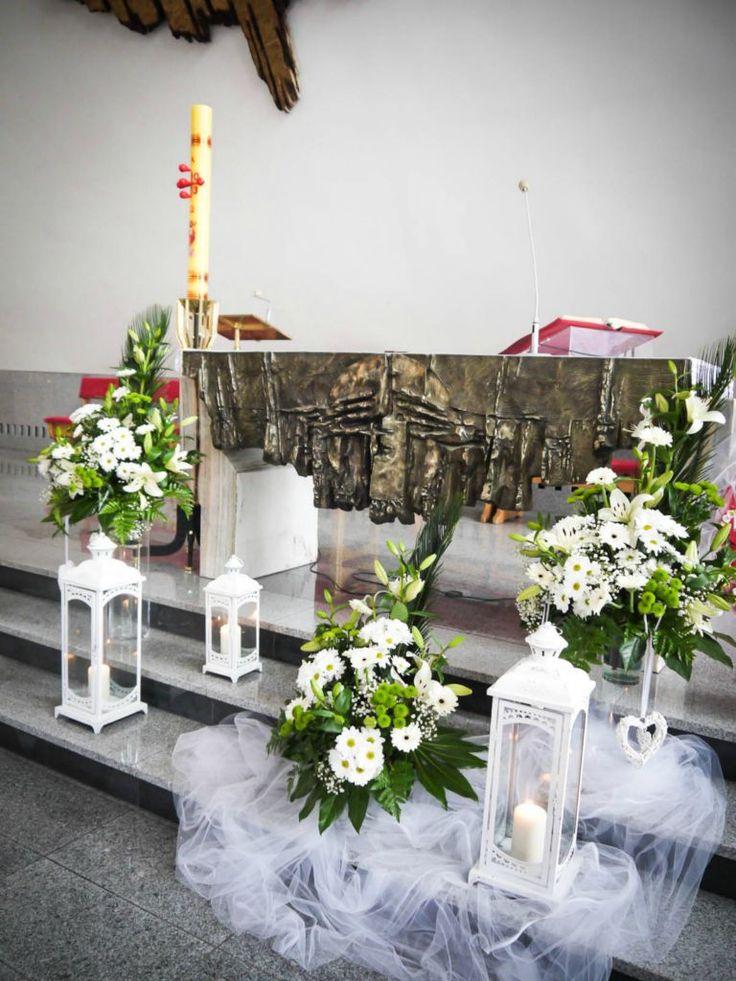 Dekoracje komunijne szukaj w google komunia for Altar decoration ideas