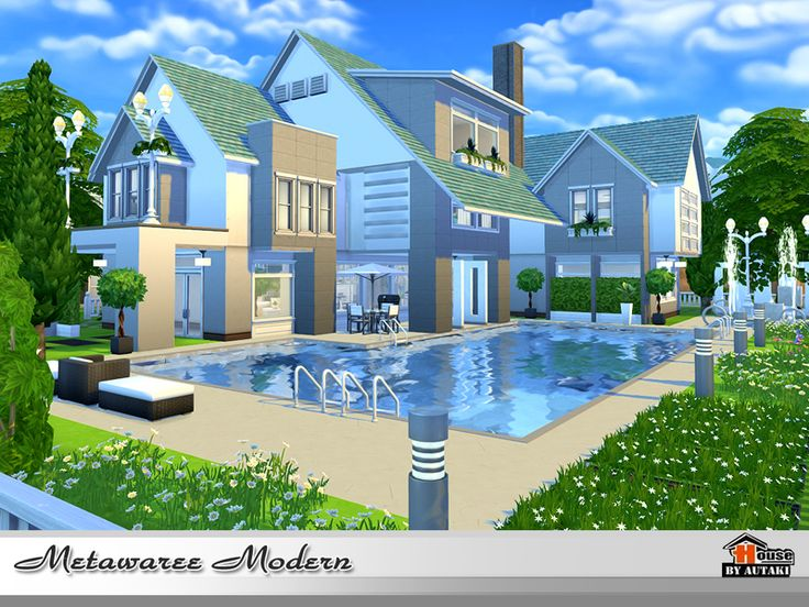 320 best sims 4 casas images on pinterest homes sims for Casas modernas los sims 4