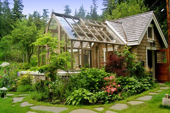 Greenhouse love. This is so perfect. fitting our crew here might be tough.