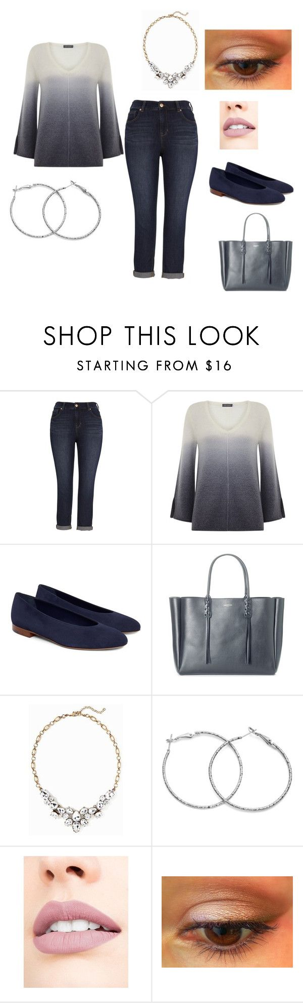 """Casual"" by jen-eye-dig on Polyvore featuring Melissa McCarthy Seven7, Mint Velvet, Lanvin, Old Navy and Jouer"