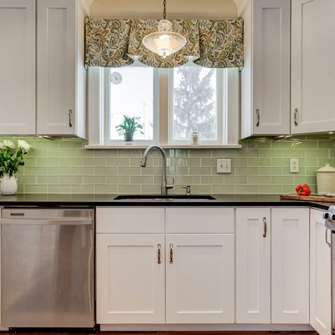 Colors green tiles and photos on pinterest for 1920 kitchen floor tile