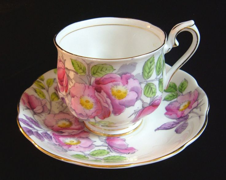 Royal Albert Pink Dog Rose June Flower Of The Month Bone China Tea Cup & Saucer  #RoyalAlbert