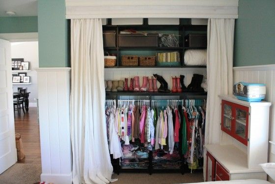 17 best images about storage solutions on pinterest No closet hanging solutions