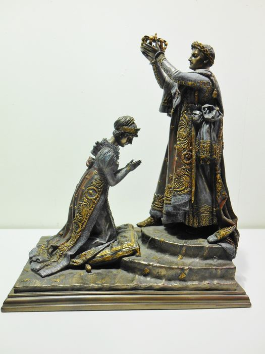 Online veilinghuis Catawiki: Kroning van Napoleon en Josephine tot keizer en keizerin - naar een schilderij van J.L. David