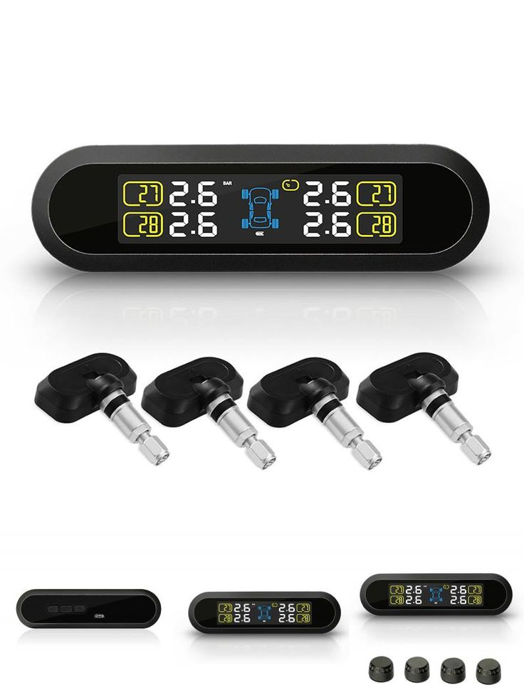 [Visit to Buy] 1PC Universal Solar Power TPMS Wireless Tire Pressure Monitoring +4 External Sensors #Advertisement