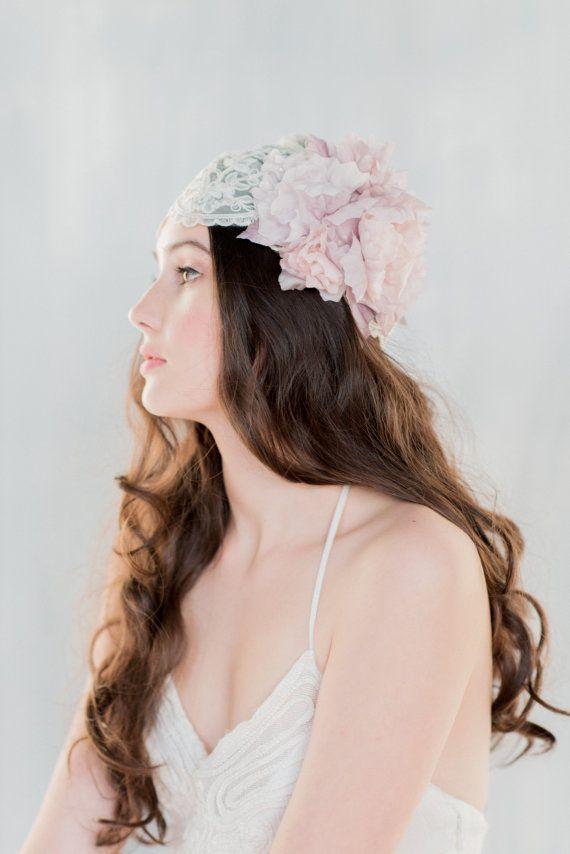 Juliette de dentelle voile chapeau de par BlairNadeauMillinery
