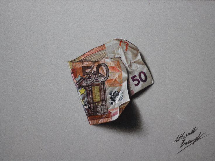 Marcello Barenghi is een illustrator en grafisch ontwerper uit Milaan die alledaagse voorwerpen als een eurobiljet, een zakje chips, een bli...