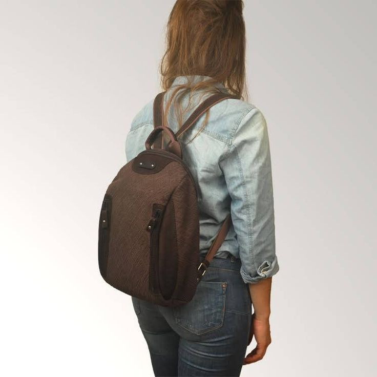 Backpack ,handmade in patterned canvas  and leather ,named NAXOS by iyiamihandbags on Etsy