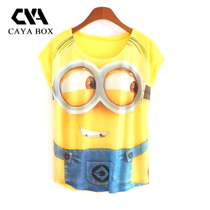 Hot Sale 2016 New Summer Fashion Women T shirt Casual Short Sleeve T-shirt Lovely Minions Cartoon 3D Print Women Shirt blusas