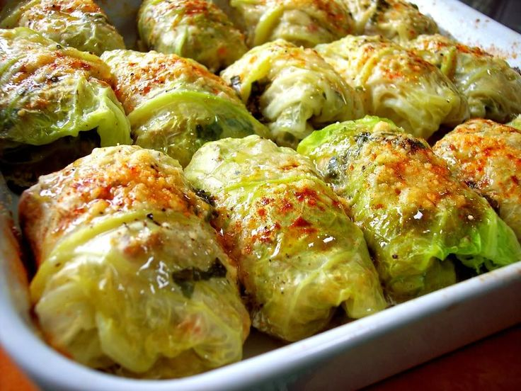 Stuffed Cabbage with Basil White Wine Cream Sauce!
