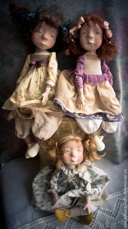 Купить Яблочная пастила - лимонный, девочка, авторская ручная работа, авторская кукла, болтушка
