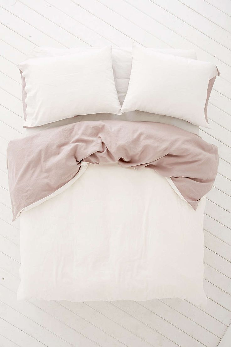 Reversible Linen Blend Duvet Cover - Urban Outfitters