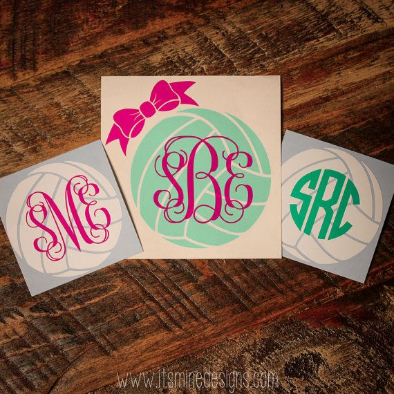 Show off your favorite sport with these monogram stickers! Available in your choice of colors for the ball, bow, and monogram.