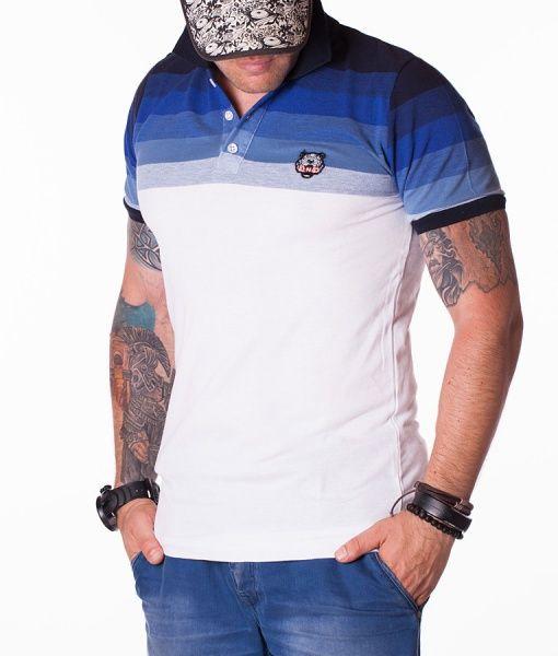 Kenzo Tricouri Polo - Tiger tricou polo alb-albastru
