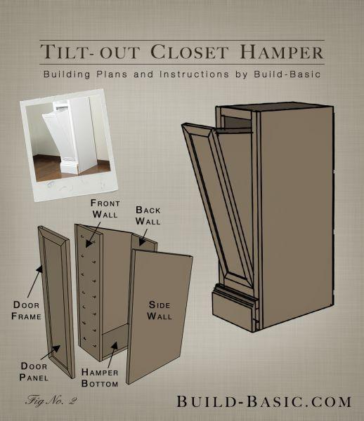 Tilt-Out Closet Hamper – Part of The Build Basic Closet System –Building Plans by /BuildBasic/ http://www.build-basic.com