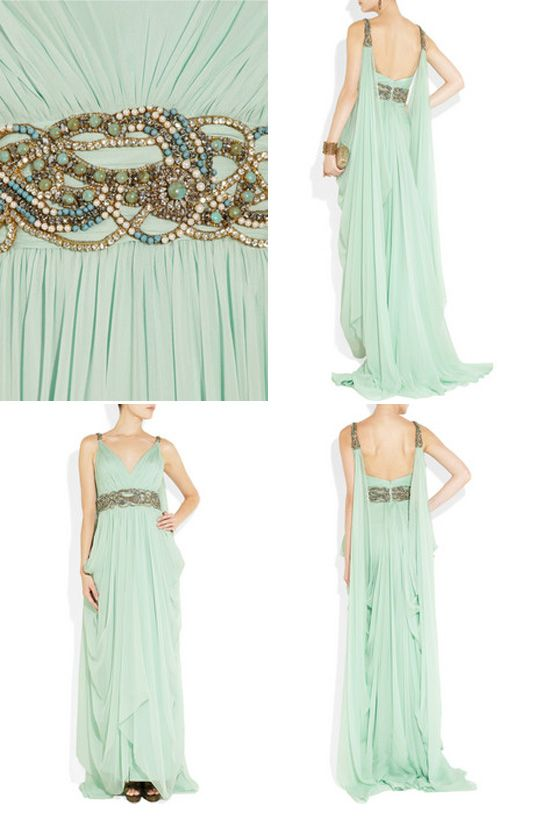 73 best mint gold wedding images on pinterest wedding for Mint and gold wedding dress