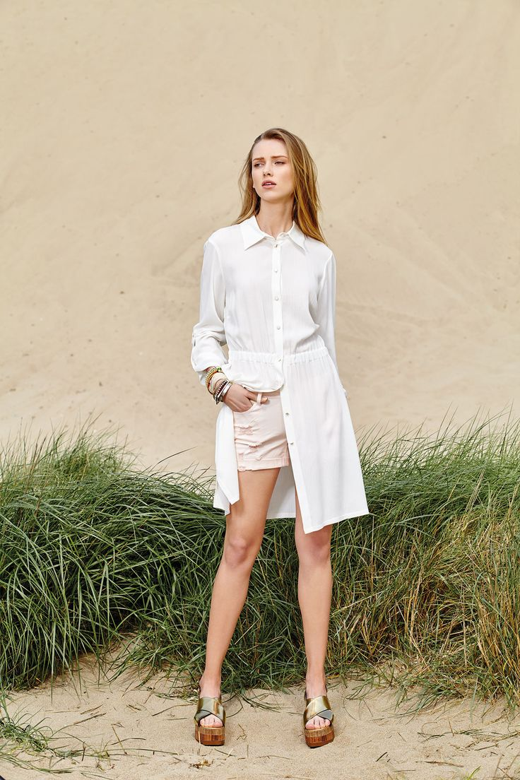 Midi shirt is summer's top fashion trend that you can wear also as a dress!