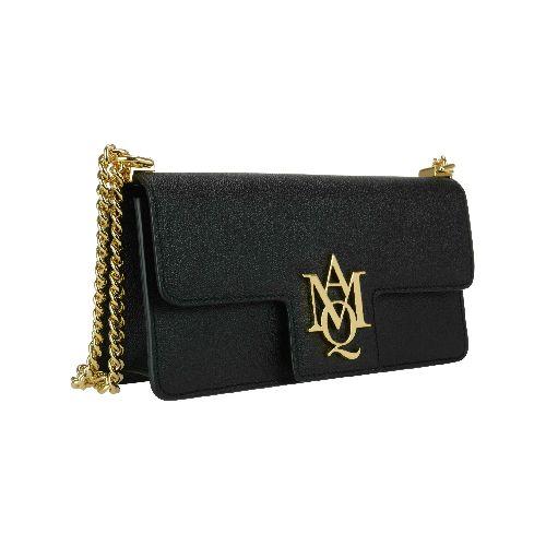 Alexander McQueen Latest! woman bag, chain detail, magnetic closure, inner pocket measures: 12x23x6 cm