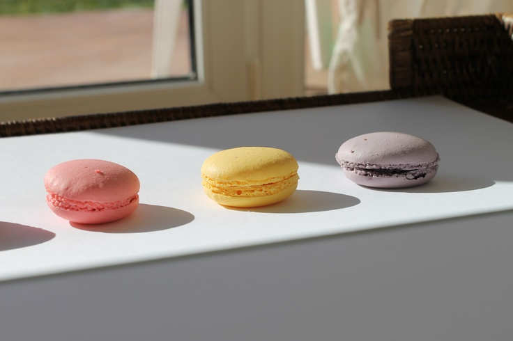 Macarons are sunbathing.