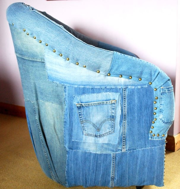 Recycled Denim Upholstery Chair   Bing Images. Denim FurnitureRecycled  FurnitureOld JeansDenim ...