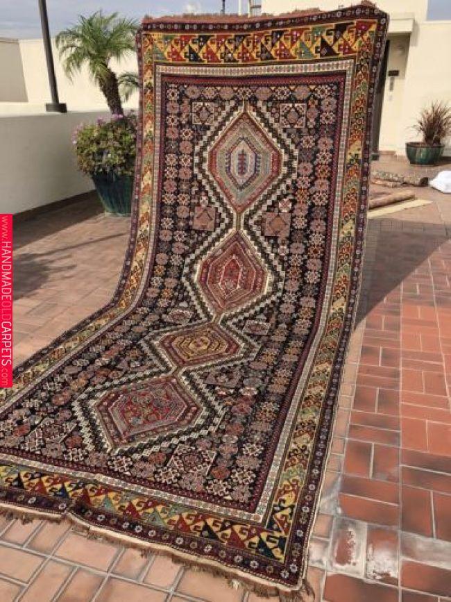 Auth 19th C Antique Caucasian Masterpiece Rare Karagashli Shirvan 1860 039 S Star With Images Star Rug Carpet Handmade Carpet Fabric