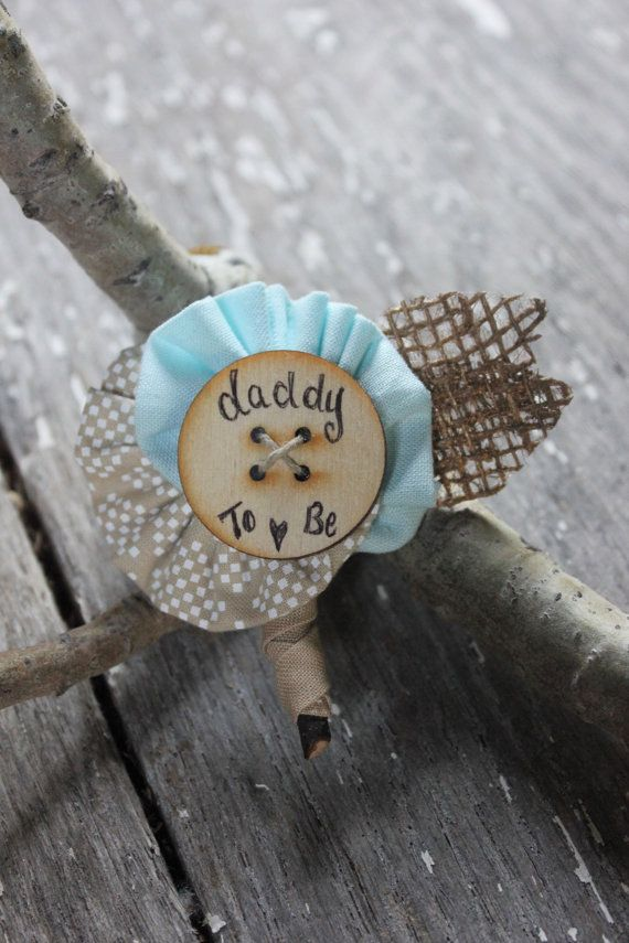 Rustic Burlap Daddy to Be Pin // Father to Be Pin by dustyLuck