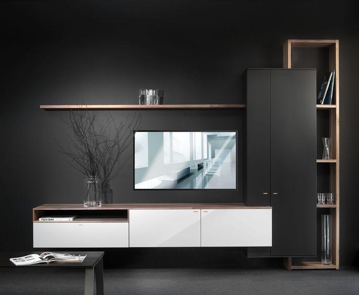 Prachtige zwart-witte combinatie van Interstar om je audio/tv meubel vorm te geven.