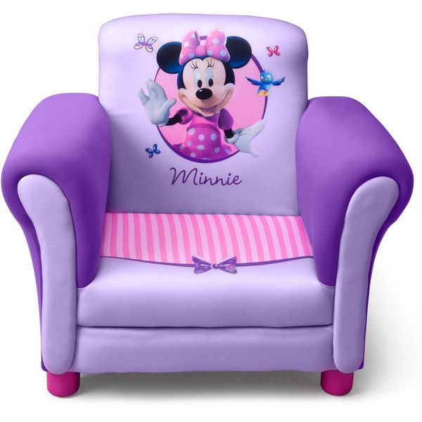 Delta Minnie Mouse Purple Upholstered Childrenu0027s Chair ($75) ❤ Liked On  Polyvore Featuring Home