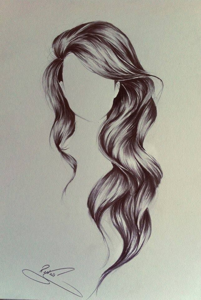 Wavy hair drawing.