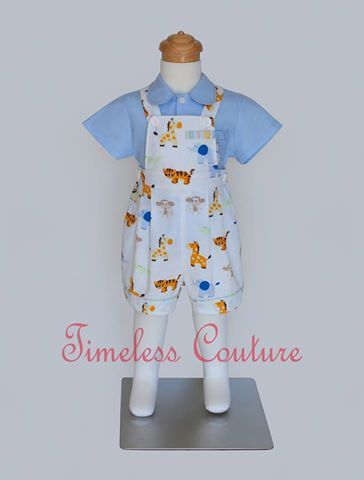 SAFARI OVERALL Boys overalls in safari prints,  a.b.timelesscouture@gmail.com  www.facebook.com/a.b.timelesscouture
