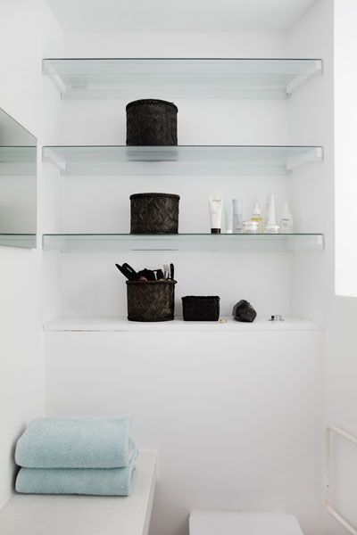 beautiful glass shelves