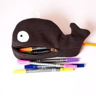 Cute whale pouch tutorial